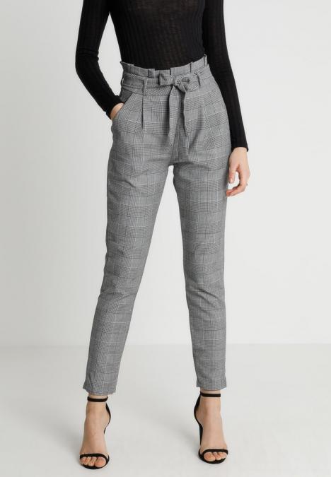 VMEVA PAPERBAG CHECK PANT - Pantalon classique